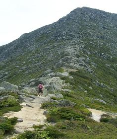 Making the climb up Mount Katahadin in Northern Maine!  :-)  What a trek!!!