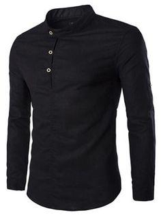 Casual Solid Color Pullover Shirts For Men Slim Fit Casual Shirts, Formal Shirts For Men, Stylish Shirts, Nigerian Men Fashion, Mens Kurta Designs, Mens Outdoor Clothing, Men's Coats And Jackets, Mens Fashion Suits, Mens Clothing Styles