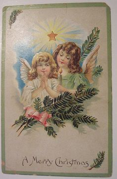 Vintage Christmas Postcard     Angel   por riptheskull