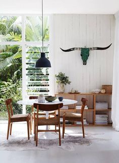 Casa de playa fresca y actual / Modern and fresh beach house - VICKYS HOME Decoration Inspiration, Dining Room Inspiration, Interior Inspiration, Decor Ideas, Room Ideas, Decorating Ideas, Boho Inspiration, Style At Home, Home Interior