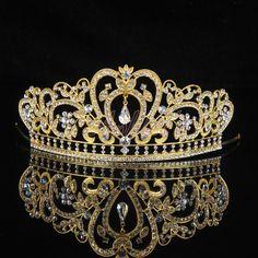 Gold Tiara Wedding Bridal Tiara, Gold Wedding Tiara, Gold Wedding... ($25) ❤ liked on Polyvore featuring accessories, hair accessories, jewelry, crowns, tiara, bridal tiaras, crown headband, floral crown headband, silver headband and gold tiara