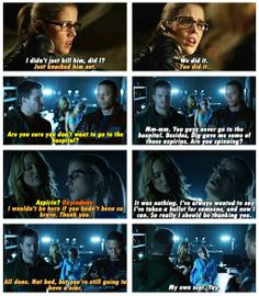 Arrow - Sara, Diggle, Oliver & Felicity #2.14 #Season2