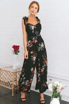 Oillian Women Summer Solid Cold//Off Shoulder Wide Leg Belted Casual Loose Long Pents Jumpsuits
