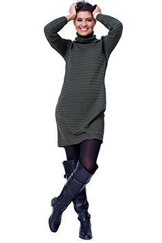 Fancy That Clothing Women's Knit Stylish Trendy Warm Polo Neck Jumper Sweater Dress (8/10, Army Green) Fancy That Clothing http://www.amazon.co.uk/dp/B01BP559YK/ref=cm_sw_r_pi_dp_URFVwb1GYWSC5