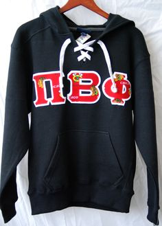 Hockey Style Hooded Sweatshirt With Black Hawks by UniversityShop