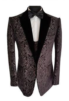 7d7851791176 paisley damask mochee kent blazer tailor made sherwani tuxedo wedding  dinner jacket black london birmingham selfridges