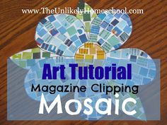 Greece Unit: Magazine Clipping Mosaics Tutorial-The Unlikely Homeschool