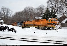 RailPictures.Net Photo: RS 104 Rochester and Southern EMD GP40 at Silver Springs, New York by Bethany Stellpflug