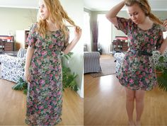 Another altered thrift store dress. Before and after.