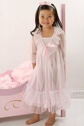 Laura Dare 2pc Pink Frilly Peignoir Set