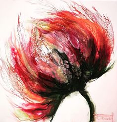 Flora Serie by N.Winkel Encaustic-Schellac #NuriaWinkelstroeter #encaustic #abstractart