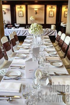 długie stoły weselne