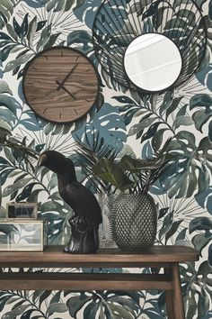 Discover the Green Addiction trend Metal Walls, Metal Wall Art, 3d Wall, Deco Jungle, Living Comedor, Funky Home Decor, Tropical Decor, Wall Wallpaper, Metal Signs