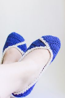 Crochet slipper-flats