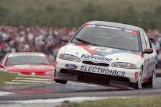 Roberston in the new Mondeo pushing the limit in 1996 round Knockhill Sports Car Racing, Road Racing, Auto Racing, Gt Cars, Race Cars, Le Mans, Touring, Nascar, Ford Motorsport