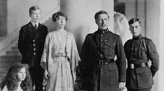 31 August 1914  King Albert is pictured here with Queen Elisabeth, a former German princess, and their children: Leopold, Karel and Marie-José. On 31 August 1914 the queen and the children and the lion's share of Belgium's gold reserves left Antwerp aboard the ferry Jan Breydel. The steamer was escorted by four Royal Navy vessels.