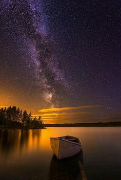 Sunset & Milky Way Beautiful Sky, Beautiful Landscapes, Beautiful World, Beautiful Places, Night Photography, Nature Photography, Art Et Nature, Photos Voyages, Milky Way