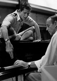 #Fifties   Anthony Perkins and Fred Astaire, who star together in On the Beach, 1959