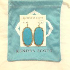 Kendra Scott turquoise Danielle earrings Kendra Scott turquoise Danielle earrings, with dust bag Kendra Scott Jewelry Earrings