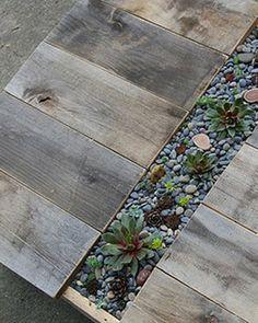 Table jardinière (palettes recyclées)