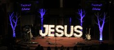 Tree Panels | Church Stage Design Ideas