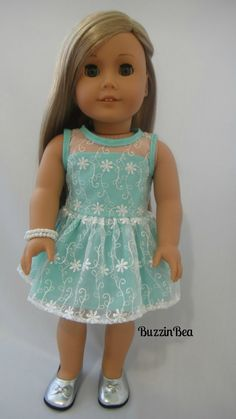 The Chloe Curtsy Dress  in Mint by BuzzinBea on Etsy,