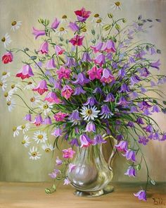Painting by artist Ivanov Vladimir. Acrylic Art, Acrylic Painting Canvas, Canvas Wall Art, Plant Painting, Diy Painting, Flower Frame, Flower Art, Illustration Blume, Paint By Number