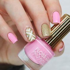 Pink and Gold Nails   NailsByErin