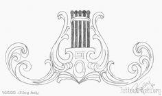 lyre tattoo design