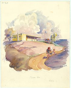 """design-is-fine: """" Alvar Aalto's proposal for the beach house """"Konsoli"""" placed…"""
