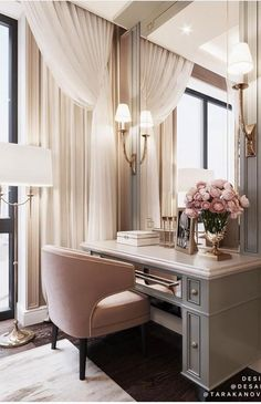 Soft rosy mauve can be chic, flirty and feminine making it a perfect choice for a dressing room. Image: Desart Decor Design by Tara Kanova Interior Design Dressing Room Design, Dressing Rooms, Dressing Room Decor, Dressing Room Closet, Luxurious Bedrooms, House Rooms, New Room, Home Bedroom, Bedroom Furniture