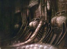 "The Original ""Alien"" Concept Art Is Terrifying bzz f"