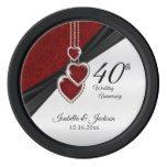 40th Wedding Anniversary Keepsake Design Poker Chips Set #weddinginspiration #wedding #weddinginvitions #weddingideas #bride