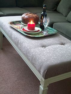 Fabulous tutorial for making a coffee table into an ottoman by Amy @ The Idea Room.