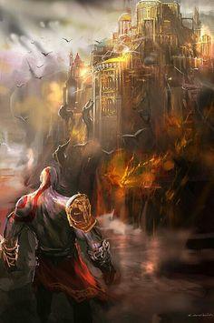 God of War, Love God of War games Kratos God Of War, Arthas Menethil, God Of War Game, God Of War Series, Geeks, Fantasy Places, Fantasy Art, Comic Games, Dark Ages