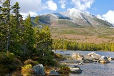 Sandy Stream Pond and Mt. Katahdin in Baxter State Park in Maine. One of Frommer's Summer in the U.S.A. 20 Best Vacation Destinations #travel