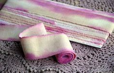 Muslin Ribbon  6  yards Hand dyed recycled cotton by Indrasribbons, $7.50