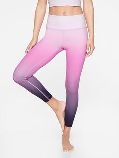 259133ce5b Athleta Elation Ombre 7/8 Tight | Spring night Outdoor Yoga, Athletic Wear,