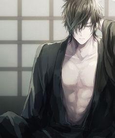 That abs. 😍😍 anime garçons, anime plus, anime sexy, anime Anime Sexy, Anime Oc, Anime Sensual, Hot Anime Boy, Chica Anime Manga, Manga Boy, Cute Anime Guys, Anime Kimono, Touken Ranbu