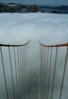 Image result for image of fog shrouded bridge