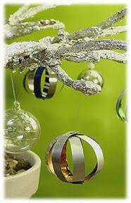 Boules de Noël en canettes d'aluminium