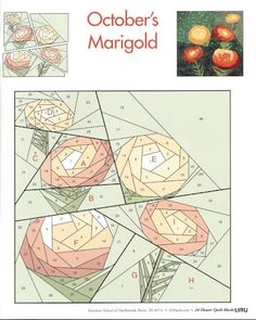 paper pieced marigolds