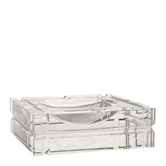 Crystal Glass Elegant crystal glass square ashtray from Eichholtz that offers…