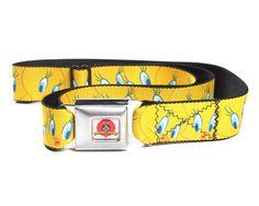 Looney Tunes Tweety Bird Expressions Seatbelt Belt