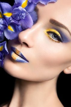 Sunflower yellow and dusty violet in complimentary fashion photography --  by Michelle Monique Photography