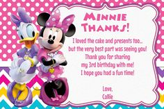 Minnie Mouse and Daisy Duck Birthday Invitation by MyBabiesBreath Minnie Mouse Birthday Invitations, Minnie Mouse First Birthday, Pool Party Invitations, Twin Birthday, 2nd Birthday Parties, Birthday Ideas, Minnie Y Daisy, Minnie Y Mickey Mouse, Minnie Boutique