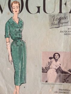 Vogue Paris Original 1381 by Jacques Heim | ca. 1957 one-piece dress