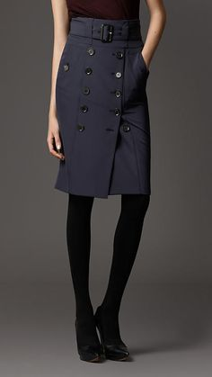 Burberry - Trench Detail Pencil Skirt