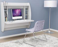 prepac wehw02001 white floating desk with storage