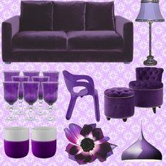 interiør lilla - Google-søk Color Trends, Purple, Style Ideas, Interior, Colour, Google, Home, Eggs, Color
